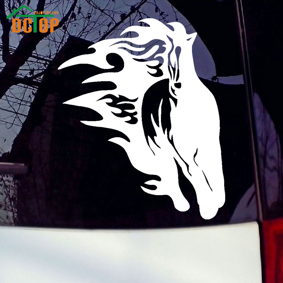 Running Horse With Flames Decal Artistic Horse Vinyl Car Sticker Styling Waterproof Cars Body Decoration(China (Mainland))