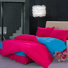 Solid Larry (Rose color) bed SKIRT styles bedding set / bedclothes / bedding / bed linen, comforter bedding sets + Free Shipping(China (Mainland))