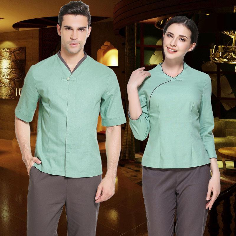 Mens spa uniforms promotion shop for promotional mens spa for Spa uniform indonesia
