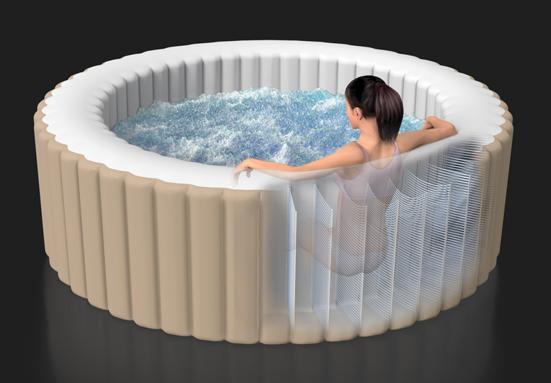 hot sale inflatable spa pool outdoor hot tub round hot. Black Bedroom Furniture Sets. Home Design Ideas