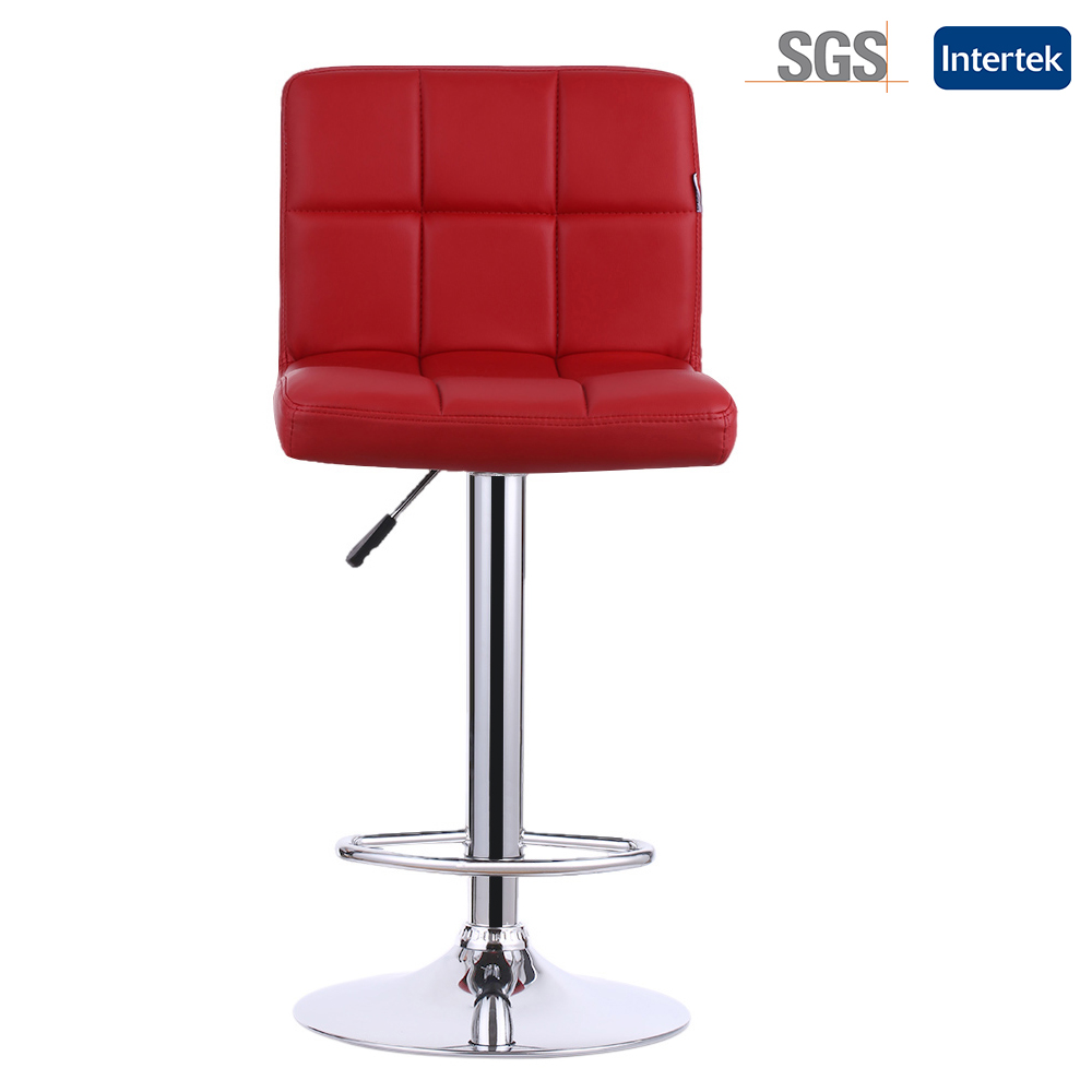 2PCS/Set PU Leather Swivel Bar Stools Chairs IKAYAA Height Adjustable Pneumatic Heavy-duty Counter Pub Chair Barstools(China (Mainland))