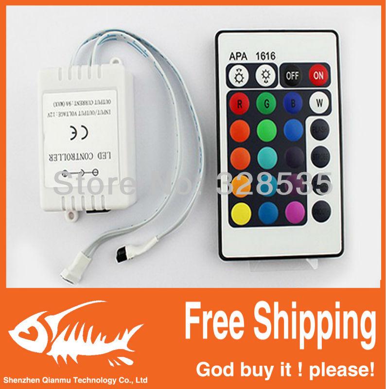 Dream color LED strip controller 24 key IR Remote Control !! Free shipping!!!(China (Mainland))