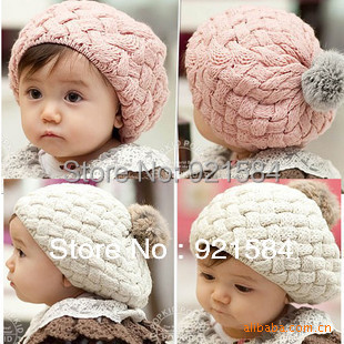 baby hat kids baby photo props beanie,faux rabbit fur gorros bebes crochet beanie toddler cap for 4 months-3 years old girl,CTL(China (Mainland))