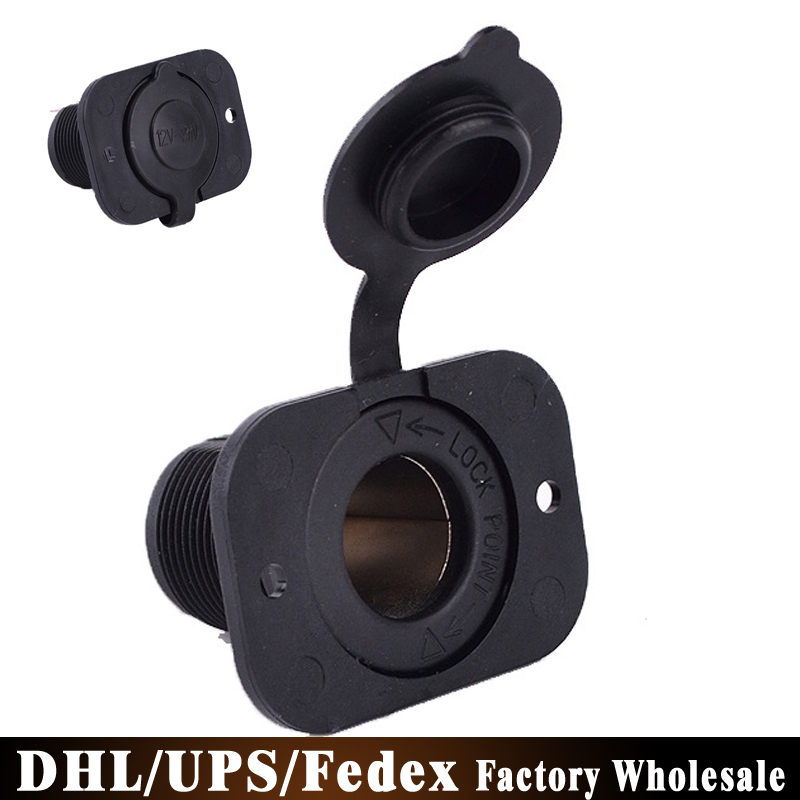 (wholesale)500pcs/lot Car 12V Cigarette Lighter Power Port Integration Outlet Socket(China (Mainland))