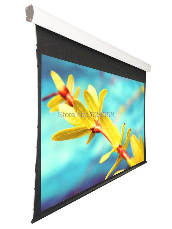 "133"" Electric tensioned screen with Acoustically Perforated fabric,Tensioned Motorized Screen 133"" in stock(China (Mainland))"