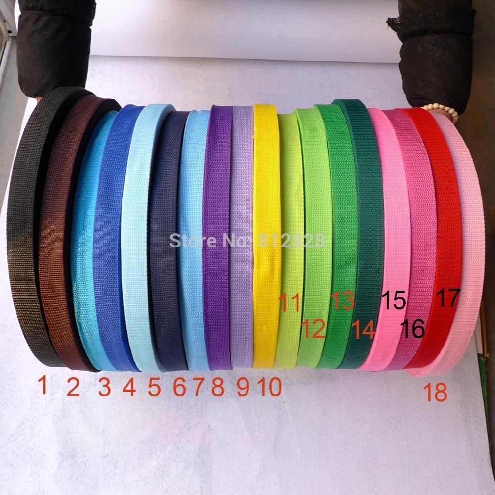 "1"" 25mm 18 Colors 1800 Yards Nylon Polypropylene Dog Collar Webbing(China (Mainland))"