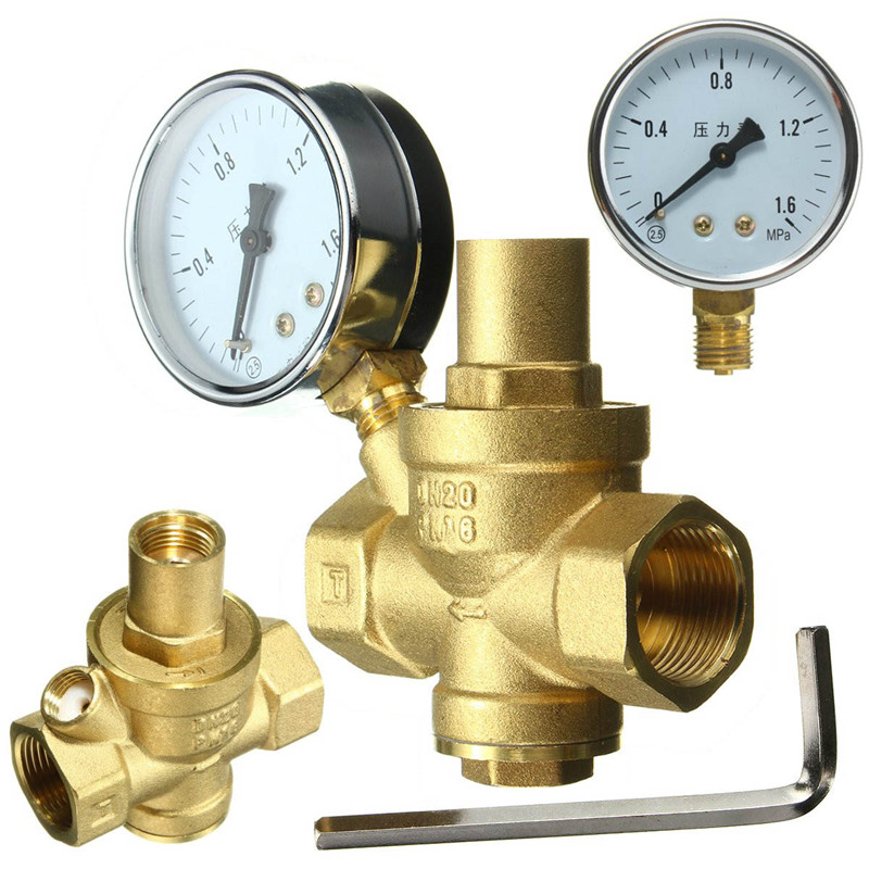 20 27day delivery brass dn20 3 4 water pressure regulator valves with. Black Bedroom Furniture Sets. Home Design Ideas
