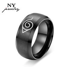 fashion naruto ring black cool men jewelry stainless steel anime ring mens man accessories (China (Mainland))