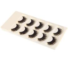 5 Pairs False Eyelashes Thick Long Fake Eyelashes Comfortable Cotton Thread(China (Mainland))