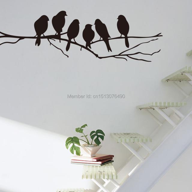 Бесплатная доставка DIY черный ветви дерева стены наклейки наклейка на стену съемный искусство главная фреска декор
