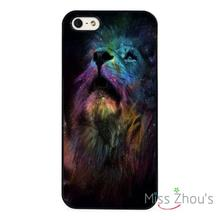 Lion Nights Sky Art Protector back skins mobile cellphone cases for iphone 4/4s 5/5s 5c SE 6/6s plus ipod touch 4/5/6