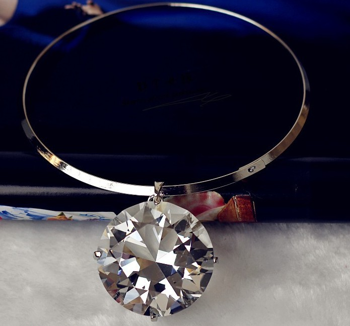 Europe Star Show Luxuries Big Crystal Chokers Necklace(China (Mainland))