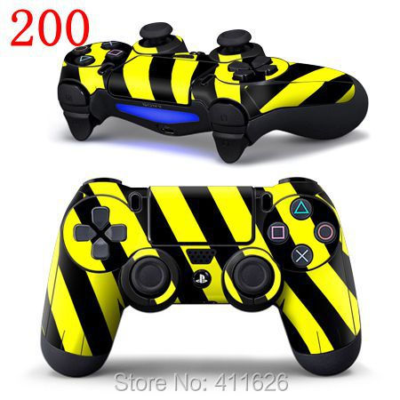 Yellow Design Wrap Sticker Skin Cover Decal for PS4 Pad<br><br>Aliexpress