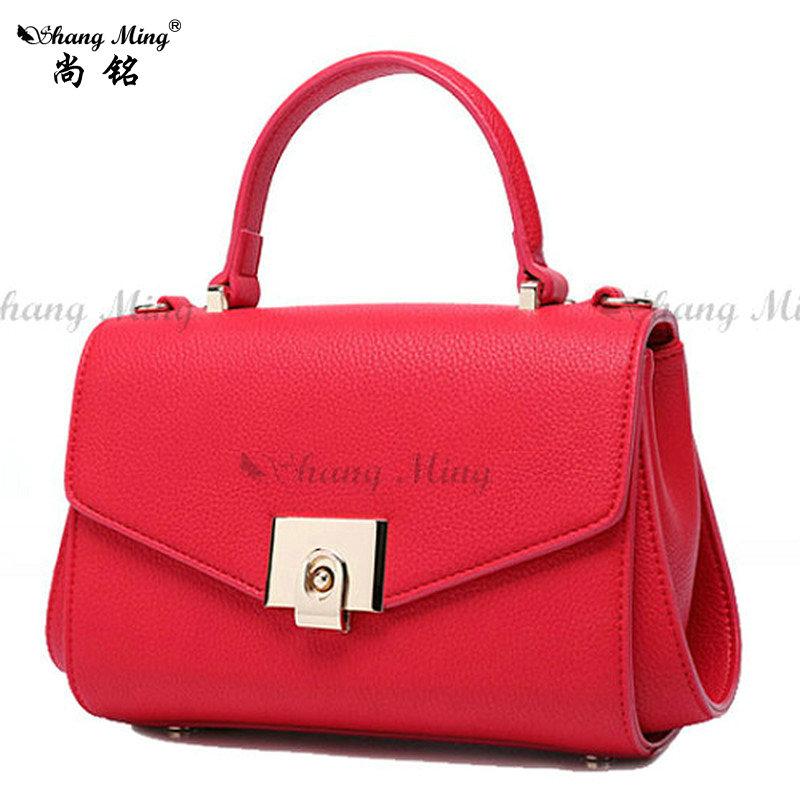 Shangming Brand Women Satchels Bags Designer Handbag With Buckle Shoulder Messenger Bags 2016 Fashion Bigs Tote Bag(China (Mainland))