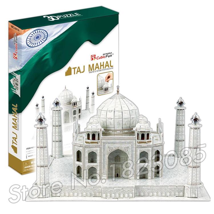 87PCS Taj Mahal 2016 New 3D Puzzle DIY Jigsaw Assembly Model Building Set Architecture Creative gift Kids Toys for boys(China (Mainland))