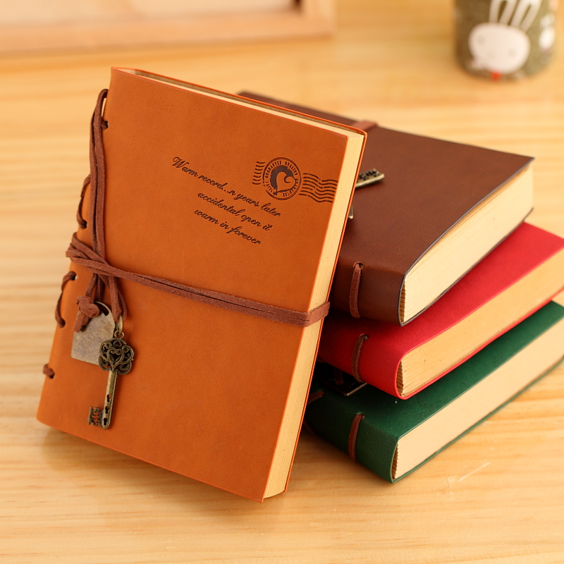 Stationery tsmip leather diary travel notebook thin notebook a5(China (Mainland))