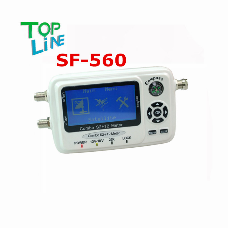 ANEWKODI Digital Satellite Finder SF-560 signal meter Sat Dish Finder with Compass DVB-S/T/S2/T2 SF 560 better than SF-500 free(China (Mainland))