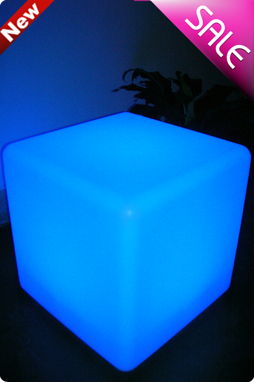 40cm LED cube chair LED furniture for outdoor party / casino / luminous theme festival item(China (Mainland))