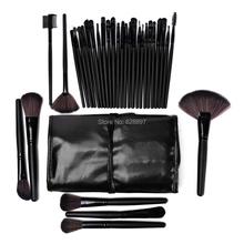 A 32pcs Makeup Brush Sets Professional Cosmetics Brushes Eyebrow Eye Brow Powder Lipsticks Shadows Make Up