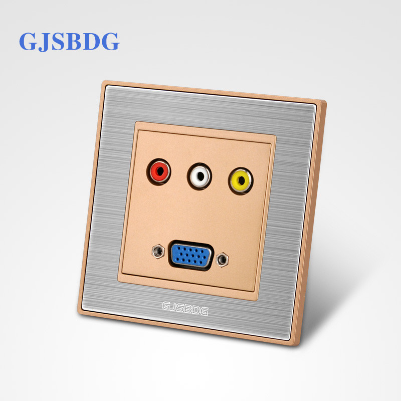 Home Decor GJSBDG Luxury Wall Switch Panel Silver Face Design Multimedia Switchclassic Series Drawing Paint Technology Low Price(China (Mainland))
