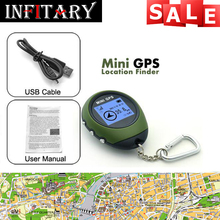 Mini GPS Tracker Tracking Device Travel Portable Keychain Locator Pathfinding Outdoor Sport Handheld Keychain free shipping(China (Mainland))