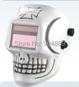 Skull AAA battery+Solar automatic darkening TIG MIG MMA MAG welding mask/helmets face mask weld goggles/eye protection goggles(China (Mainland))