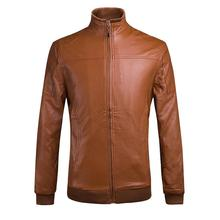 2016 fashion, cultivate one's morality in Europe and the contracted quilted jacket to keep warm man leather coat(China (Mainland))
