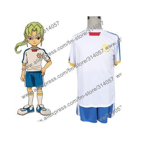 Freeshipping-anime products Inazuma Eleven Inazuma Japan Summer Soccer Uniform Cosplay Costume(China (Mainland))