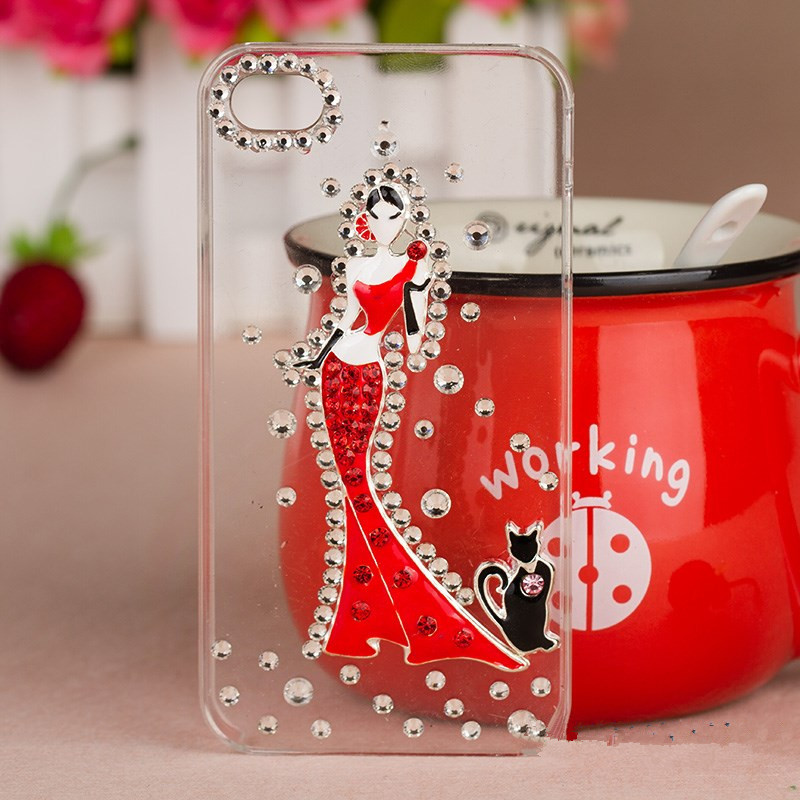 New Rhinestone Phone Case Cover For Sony Xperia Z L36h C6603 Xperia SP M35h Case Diamond Fashion Girl Hard Back Mobile Phon bag(China (Mainland))