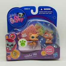 LPS collector pack cute toys Pet shop animal Lovely cat and Hamster #1947 #1948 action figure littlest doll