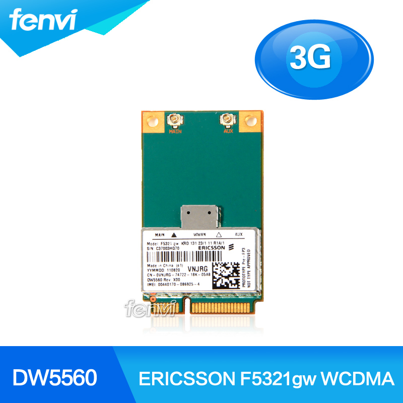 ERICSSON F5321gw Wireless DW5560 3G WWAN MINI PCI-E Card GSM GPRS EDGE UMTS WCDMA HSPA+21MB GPS Module For Dell Notebook Modem(China (Mainland))