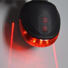 Bike light 5LED 2Laser 7 Flash Mode Bicycle Safety Rear light Bike accessories Laser Warning Lamp