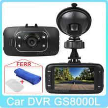 Free Shipping!! Original 2.7'' HD 1080P Car DVR Vehicle Camera Video Recorder Dash Cam G-sensor HDMI GS8000L(China (Mainland))
