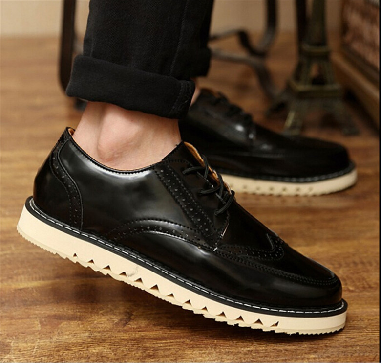 2015 spring tide restoring ancient ways is low for mens fashion leisure sandals of pure color leather coat of paint<br><br>Aliexpress