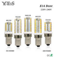 Buy YOTOOS LED Lamp E14 Corn Led Bulb AC 220V 230V 240V SMD 3014 2835 LED Lights Halogen Chandelier Candle Lights Home Lighting for $1.33 in AliExpress store