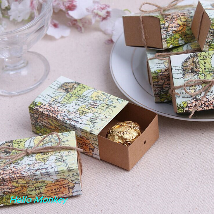 Buy 100pcs lot around the world map for Application box decoration