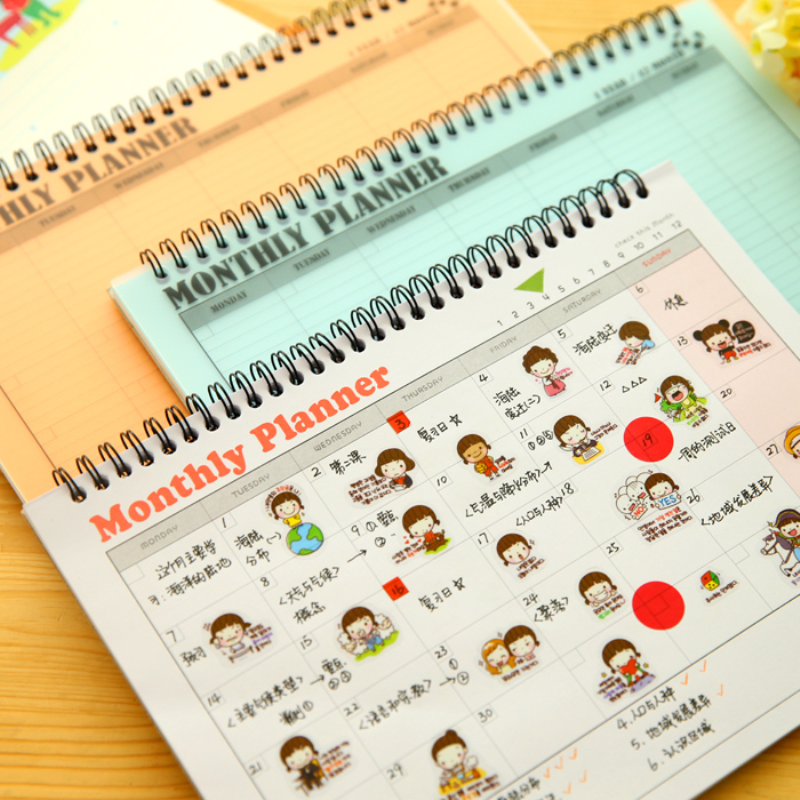 Planner Schedule Book Office Notebook Notepad Diary School Supplies Stationery - Rainbow's store
