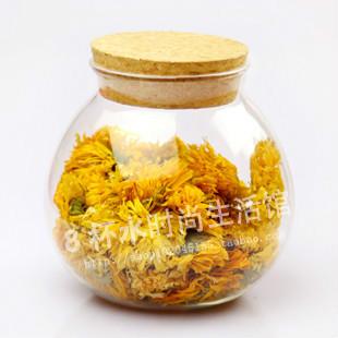 Soft And Sweet Tea Glass Tea Pot Storage Candy Wishing Bottle Type Design Sealed(China (Mainland))