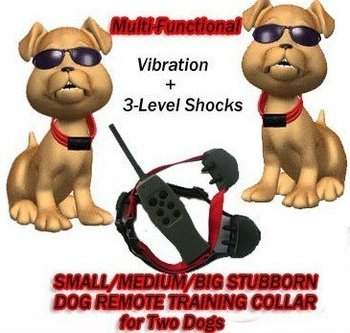 NEW 10pcs/lot SMALL/MEDIUM/BIG STUBBORN DOG REMOTE TRAINING COLLAR for 2 Dogs