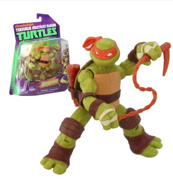AULDEY TMNT 11CM Michelangelo toy model garage kit Action Figure Model Toy For Children 8 years Free Shipping(China (Mainland))