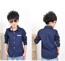 2016 Spring Children kids fashion Print Anchors shirts , boys cotton shirts , boys tops clothing shirts(China (Mainland))
