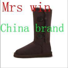 Mrs win 2016 Women Boots Snow Boots Wool Women Shoe Cute Winter Snow Boots Size: 5-12(China (Mainland))
