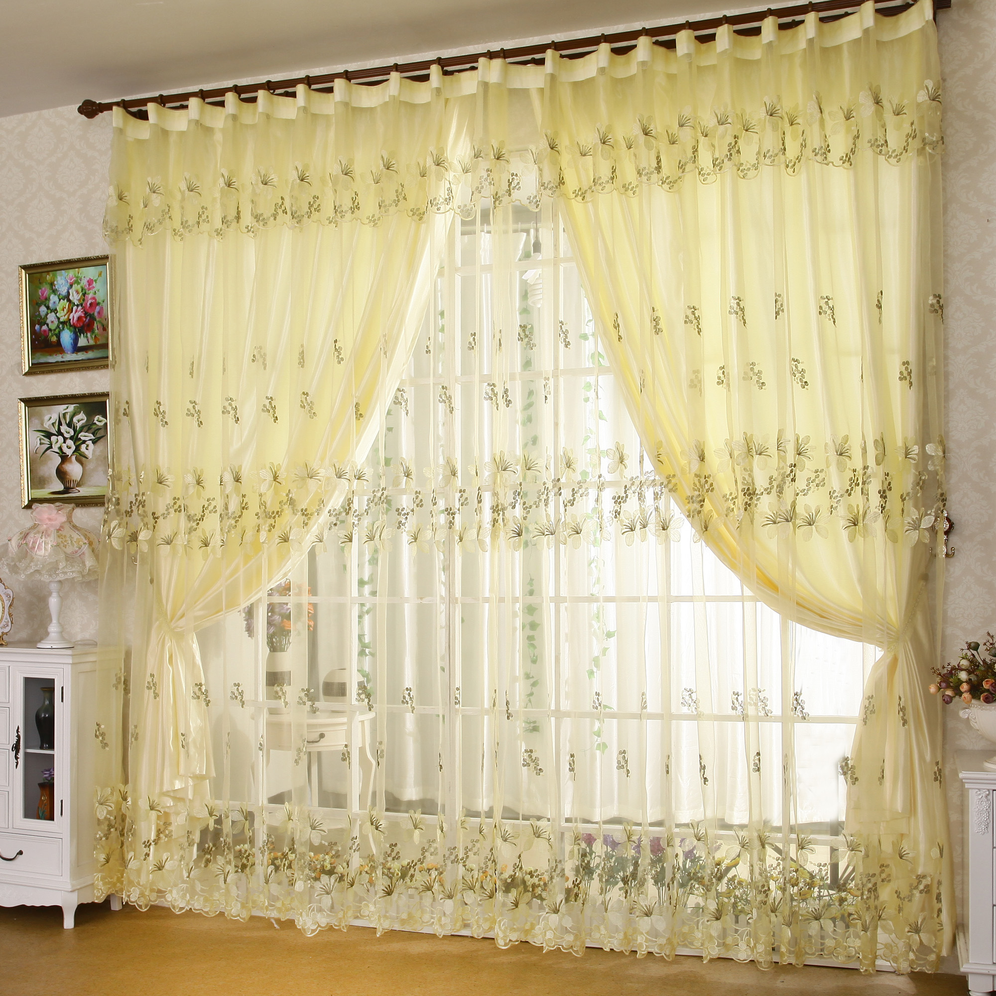 ... curtains for window living room bedroom curtain fabric pink yellow