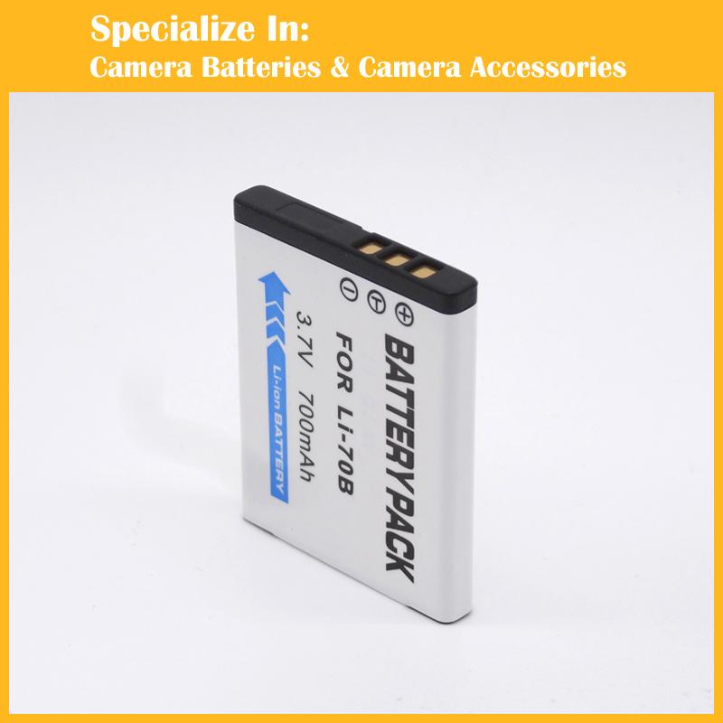 Rechargeable Li-70B 10pcs/lot li-ion battery For Olympus D-700 FE-5040 X-940 U1020 digital camera(China (Mainland))
