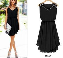 Hot Selling New Fashion Women Summer Dress Casual Solid Dresses O-neck Knee-length Sexy Charming DRESS-5446302(China (Mainland))