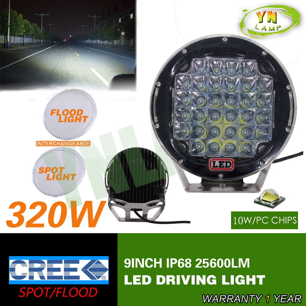 New 320w 9inch Black round cree led driving light ,led off road light led work light for SUV,ATV,UTV ,4D,4X4 use 25600LM<br><br>Aliexpress