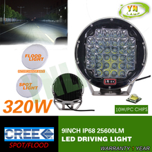 9inch Black round cree led driving light