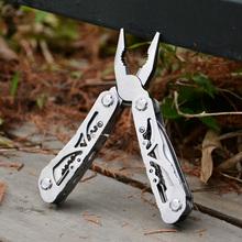 Envío gratis acero múltiples funciones del cuchillo plegable herramienta portátil cuchillo de los alicates exterior multiusos alicates de combinación alicates de
