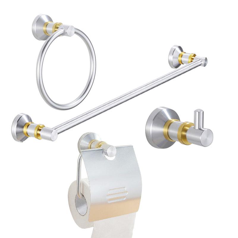 4 piece european luxury aluminum house bathroom hardware for Bathroom hardware sets