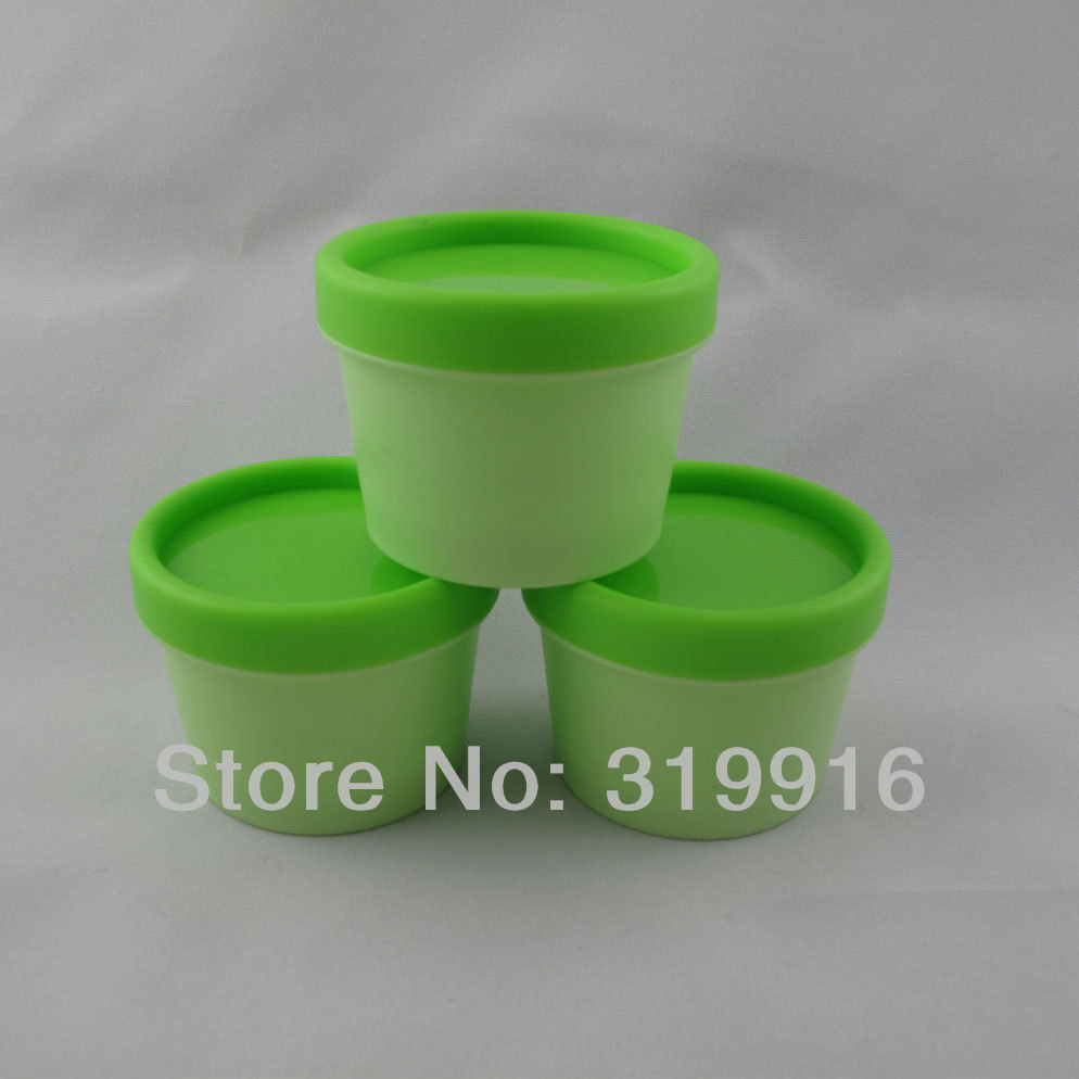 100g X 20 Empty cylinder mask cosmetidc PP bottle, green round facial mask cream jars containers Pot refillable jars supplier(China (Mainland))